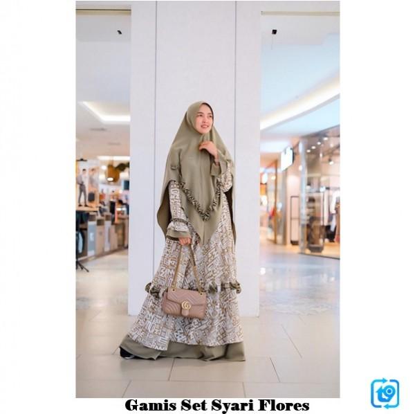 Gamis Set Syari Flores